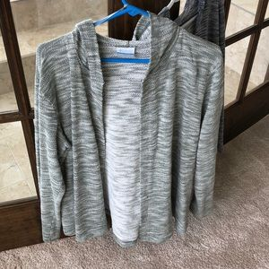 2 Columbia hooded open sweaters